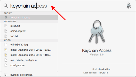 Open Keychain Access