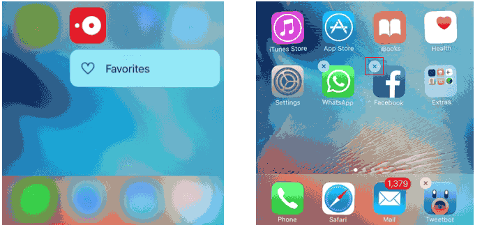 2 ways to make 3d touch serve well for user move or delete apps in iphone 6s ccuart Image collections