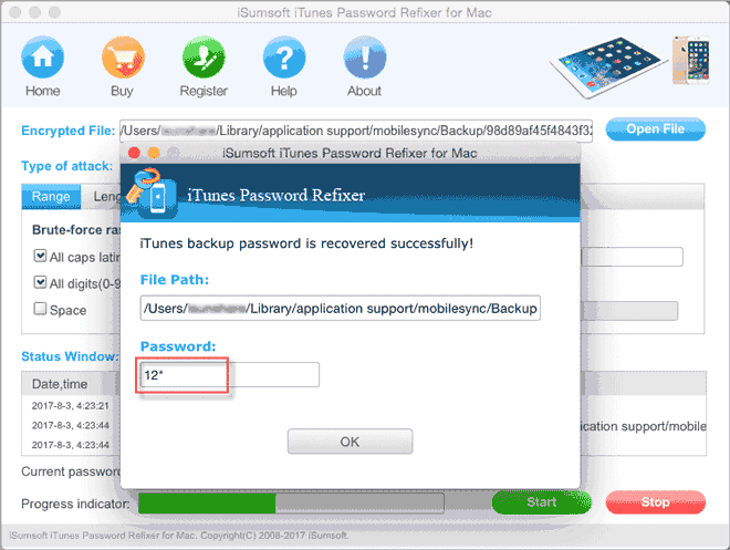how to find itunes password