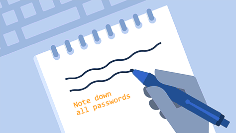 Note down password