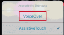 VoiceOver in iPhone/iPad