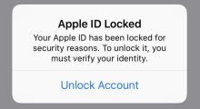 Unlock a Locked/Disabled Apple ID