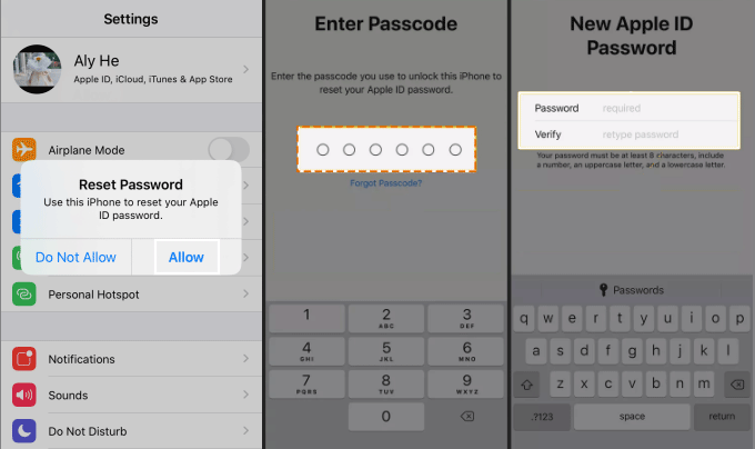Unlock Apple ID with a trusted device