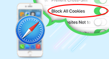 block and enable/disable cookies