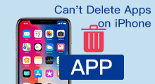 cannot delete apps on iphone
