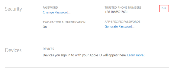 Change Trusted Phone Numbers for Apple ID Using 2FA