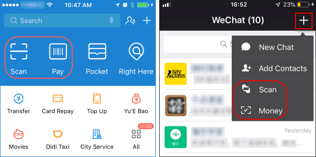 Payment proccess with WeChat Wallet and Alipay