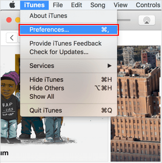 Mac's Itunes Preferences