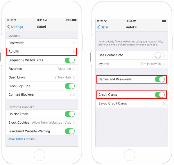 Set up AutoFill for Username and Password on iPhone