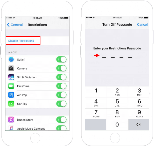 How to Enable or Disable Restrictions on iPhone/iPad