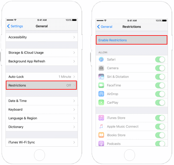 How to Enable/Disable Restrictions on iPhone/iPad