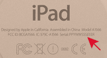 Find iPhone/iPad Serial Number