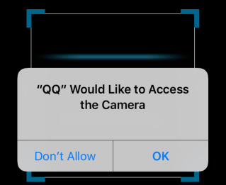 App requires your permission to access camera