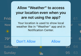 Give apps permission to use your Location