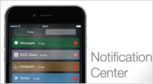 Access to Notification Center