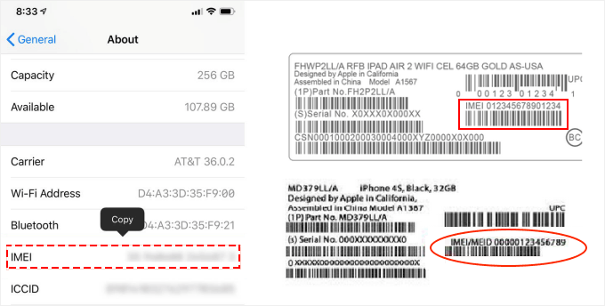Find the IMEI Number of your iPhone