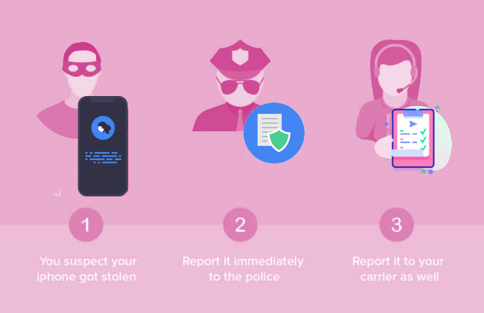Report your stolen iPhone to police and carrier