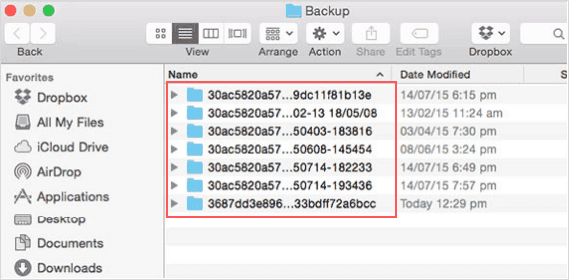 View iTunes backup files on Mac