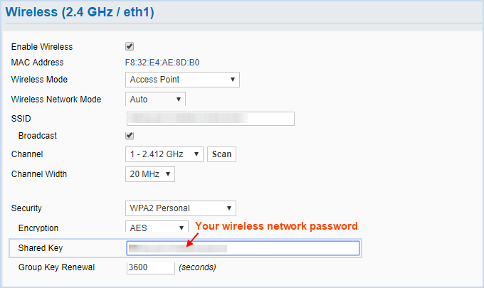 name of the Wi-Fi network
