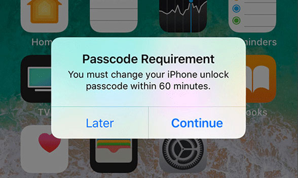 passcode requirement pops on iPhone