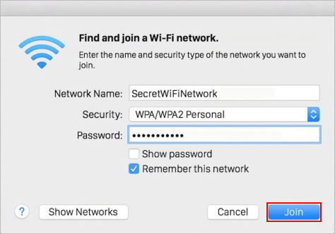 How to Join a Hidden Wireless Network in iPhone/iPad/Mac