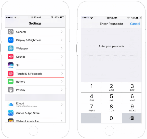 how to get passcode for ipad