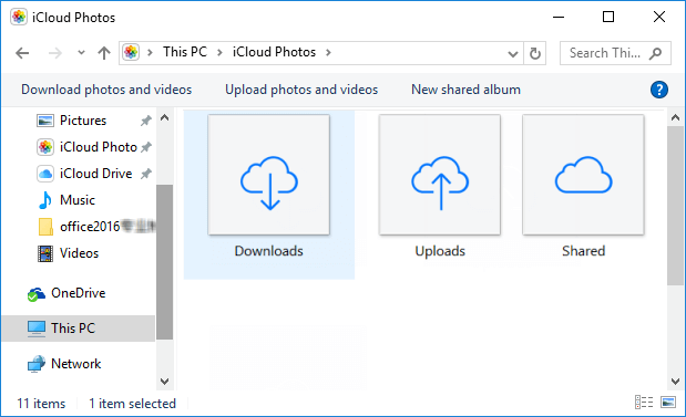 Download or upload photos and videos via iCloud Photo Library