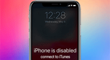 unlock disabled iPhone without iTunes