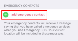 Add emergency contact