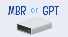 Check hard drive uses mbr or gpt