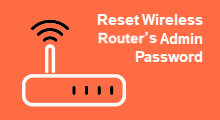 Find reset and change password of router