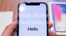 factory reset iPhone without Passcode