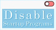 disable startup programs