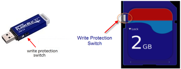 Turn on Write Protection lock
