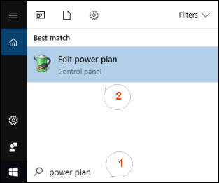 Chang power saving setting