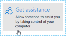 Gain assistance via remote connection