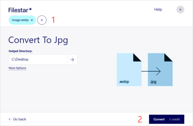 convert webp to jpeg via online tool