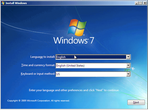 How to Install Windows 7 from USB in VMware