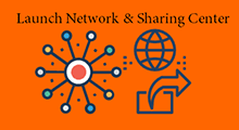 launch network and sharing center