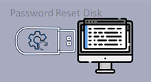 Make a password reset disk for another computer