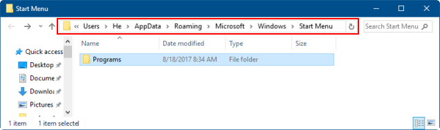 How to Quickly Access Start Menu Folder in Windows 10/7