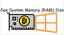 See system memory ram size in Windows 7/10