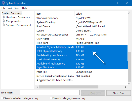 Quick Ways to See System Memory (RAM) Size in Windows 10/7