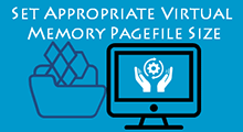 set appropriate virtual memory pagefile size