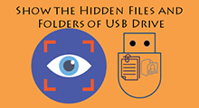 Show the hidden files and folders of usb device