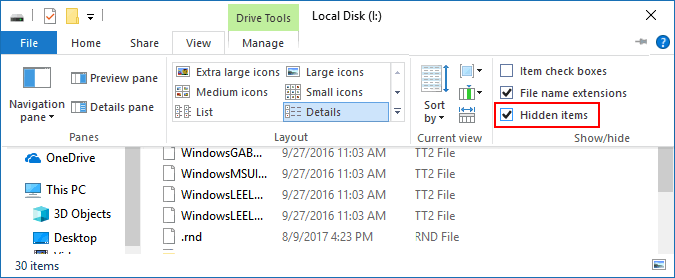 How to Show the Hidden Files and Folders of USB Drive