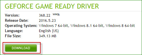 download display driver