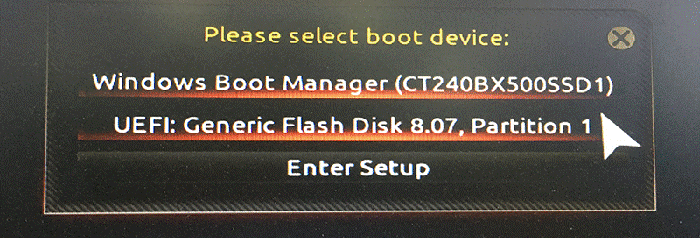 boot from USB