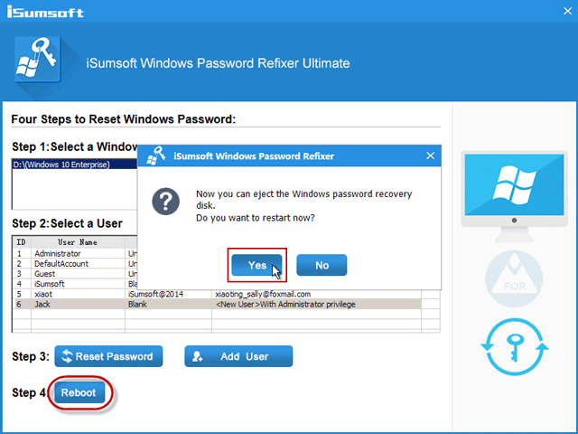 isumsoft windows password refixer registration code