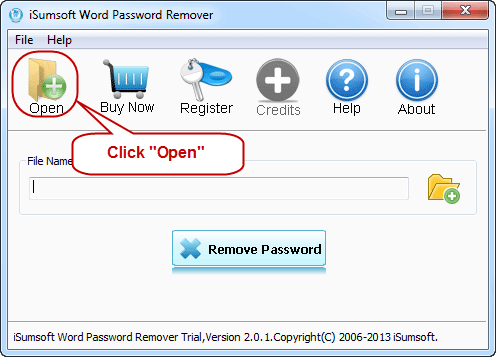 open word file